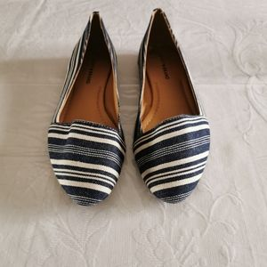 Lucky Brand Canvas Striped Flats Size 10